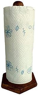 El Poniente T & D - Porta rollo para papel de cocina de madera de tzalam (17 cm x 33 cm)