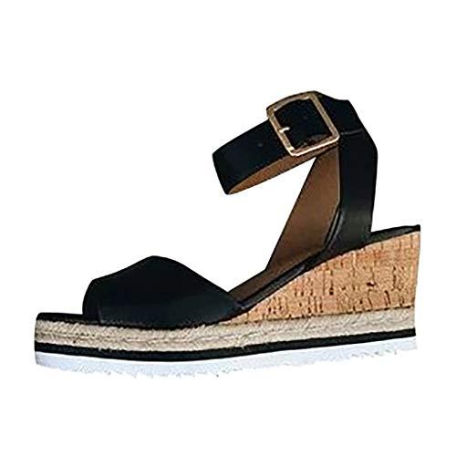 Zapatos Mujer Verano 2019 Sandalias de Cuña con Plataforma | Tobillo Abierto...