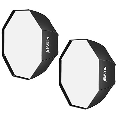 Neewer 32 inches /80 centimeters Black Portable Octagonal Umbrella Softbox for Studio Flash, Speedlite, with White Diffuser and Carrying Bag for Portrait and Product Photography (2 Pack)