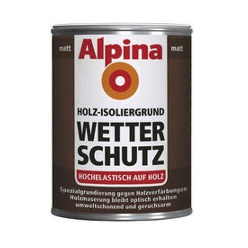 Alpina Holz-Isoliergrund Wetterschutz, weiß, matt, 2 Liter