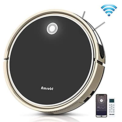 Robot Vacuum and Mop, Amrobt Robotic Vacuum Cleaner with Wi-Fi Connectivity/Remote Control, 1600Pa Power Suction, Self-Charging Vacuum for Pet Hair, Carpet & All Types of Floor