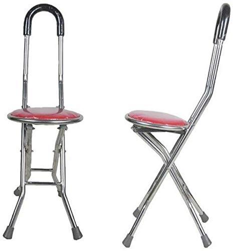 nnn krukken verstelbare wandelstok stoel invaliditeit medische hulp opvouwbare stoel stok lichtgewicht wandelen Stoel stoel rood