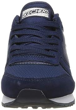 Skechers Women's RETROS-OG 85-GOLDN GURL Trainers, Blue (Navy Suede/Mesh/Nylon/Silver Trim Nvy), 7 UK (40 EU)