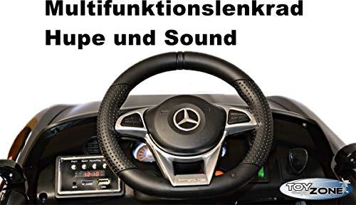 RC Auto kaufen Kinderauto Bild 2: ToyZone Kinderfahrzeug 12V Kinderauto Kinder Elektro Auto Mercedes GTR AMG MP3 USB Ledersitz Eva Gummiräder 2,4 GHZ*