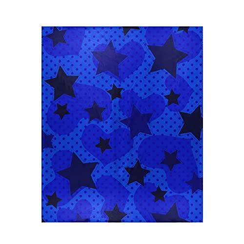 Manta con diseño de corazón de estrellas azul, cálida y ligera, súper suave, con impresión digital, microforro polar ultrasuave, 50 x 60 pulgadas