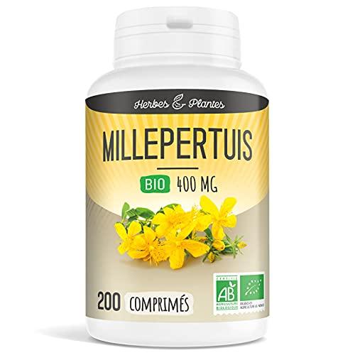 Herbes Et Plantes Millepertuis Bio 200 Comprimés 400 mg