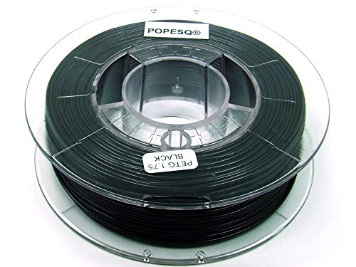 POPESQ® 330 g x Premium Filamento 3D Impresora Pet-G 1.75mm Negro / 330 g x Premium Filamento 3D Impresora Pet-G 1.75mm Negro #A2376