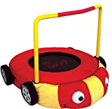 Pure Fun Kids Jumper: 38' Race Car Mini Trampoline with Handrail, Youth Ages 4 to 10