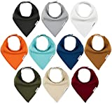 TheAZBaby Baby Bandana Drool Bibs 10-Pack Baby Bibs for Boys, Girls, Unisex for Teething and Drooling