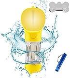 Bottiglia dAcqua per Cane 550ml Portatile Cane Gatto Potabile Tazza Viaggio Acqua Ciotola Tazza Portatile ad Uso Esterno per Animali Domestici Giallo