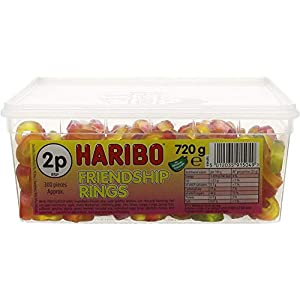 haribo friendship rings (tub of 300) Haribo Friendship Rings (Tub of 300) 41RjgrosodL