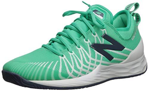 New Balance Men's LAV V1 Hard Court Tennis Shoe, Neon Emerald/White, 1.5 2E US