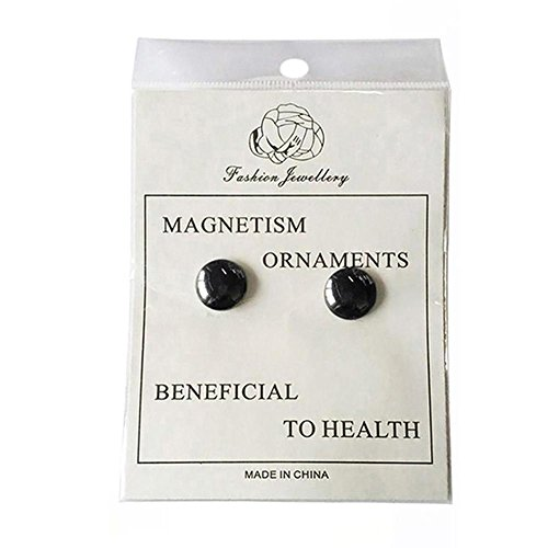 Gracefulvara 2 Pairs Weight Loss Earrings Healthy Stimulating Acupoints Stud Magnetic Therapy