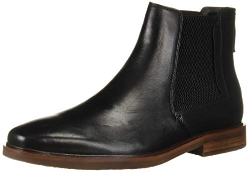 Steve Madden Men's INFORMOR Chelsea Boot, Black Leather, 9.5 M US
