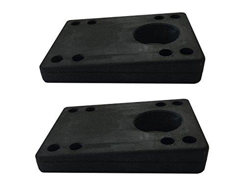 Vj skateshop Longboard Skateboard Riser Pads, Gummi, 2 Stück, Größe Shock Pads 3 mm (1/8