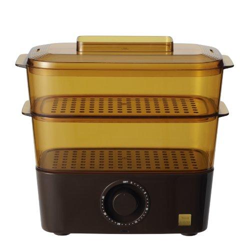 BRUNO 素材のおいしさを逃さず調理できる卓上蒸し器 コンパクトスチームクッカー ブラウン BOE001-BR