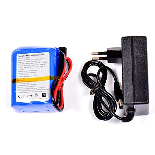 Aftertech® Paquete de batería recargable de 24 V 2000 mAh 2 Ah de alta calidad de litio E-Bike 75 x 56 x 38 mm H1C1