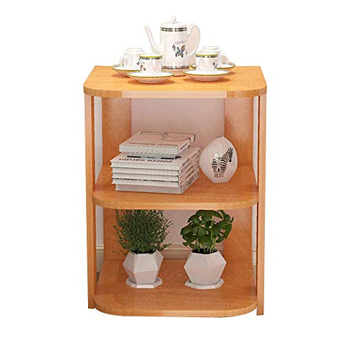 NSYNSY Couchtisch Holz Couchtisch, Modern Minimalist Wohnzimmer Sofa Seitenschrank Eckschrank Nachttisch Kreativer Beistelltisch (Farbe: Ahorn)