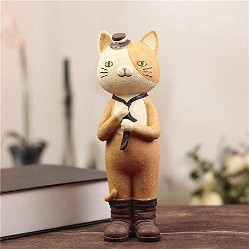 Creatieve schattige meisjes kat hars accessoire handwerk pop spaarpot cadeau studenten cadeau voor verjaardag of thuisdecoratie