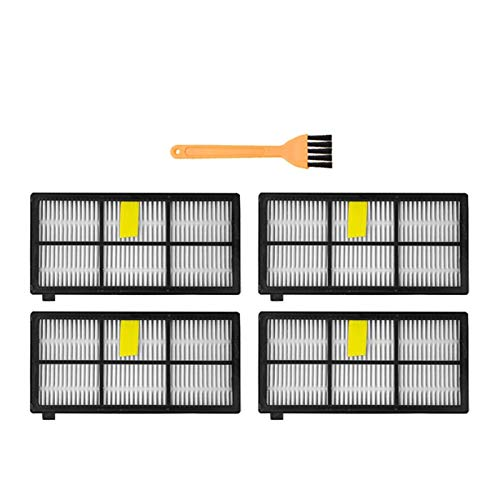 SDFIOSDOI Piezas de aspiradora Filtros HEPA;Cepillos Kit Fit para Irobot Fit para Roomba 800 900 Series 860 870 880 890 960 980 990 Robot Accesorios de Piezas de la aspiradora (Color : SMT342)