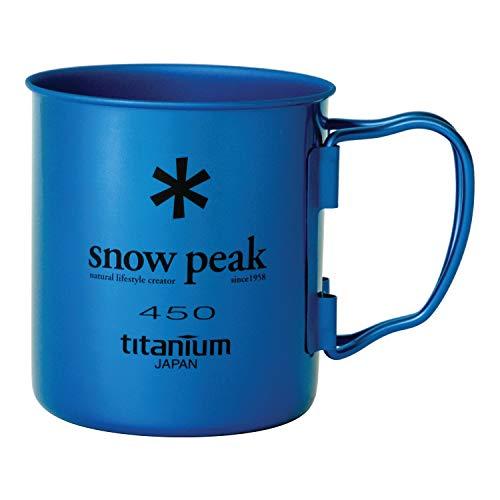 Snow Peak Ti Single Wall 450 Mug, Fresh Water Blue