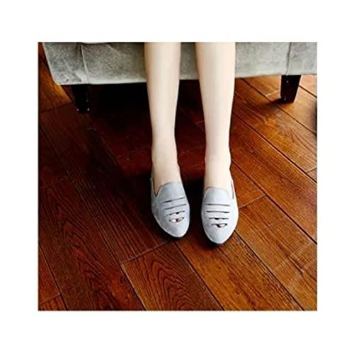 HaoLin Zapatos de Mujer Zapatos Casuales de Vestir para Correr Trekking Senderismo,Grey-36 EU