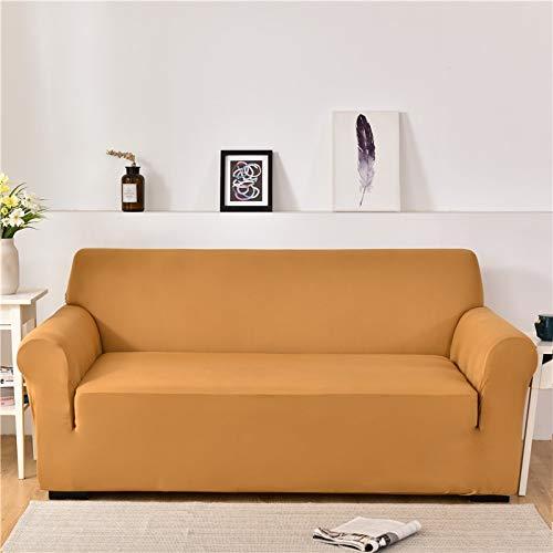 ASCV Fundas de sofá de Spandex para Sala de Estar Color sólido seccional en Forma de L Funda de Esquina Funda de sofá Protector de Silla A5 2 plazas