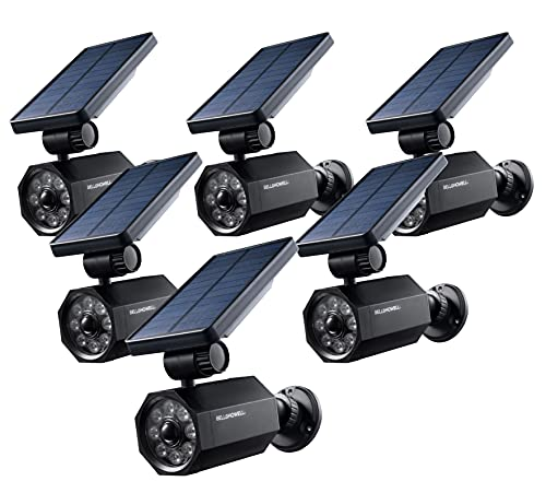 Bionic Spotlight Set of 6 by Bell+Howell Solar Spot Light with 25 Feet Motion Sensor, Sun Panels, Waterproof Frost Resistant Patio, Yard and Outdoor Lighting As Seen On TV