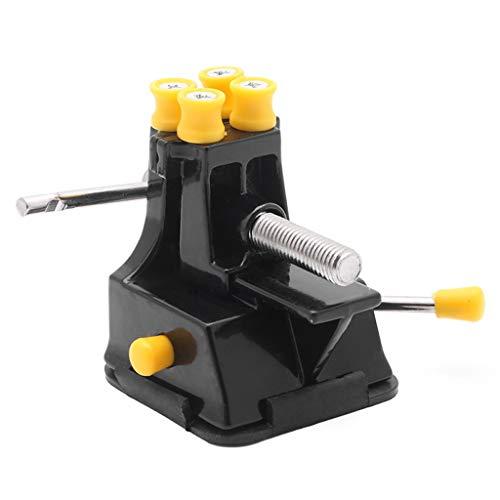 Aiglen Herramienta de reparación de mano para manualidades de bricolaje Mini Vice Ventosa Grip Vise rápido y fácil de instalar o quitar