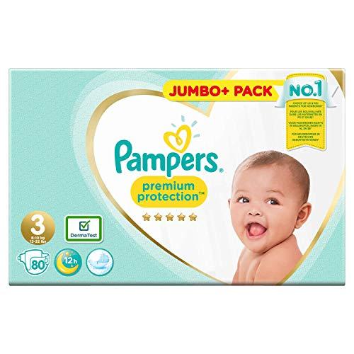 Pampers Premium Protection windeln, weiß, size 3 80 stück