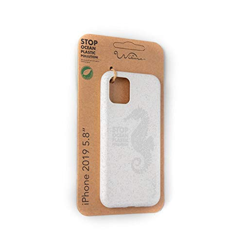 Wilma Eco-Friendly Biodegradable Compatible with iPhone 11 Pro Case, Stop Ocean Plastic Pollution, Plastic-Free, Zero Waste, Non-Toxic, Fully Protective Phone Cover – Matte Seahorse