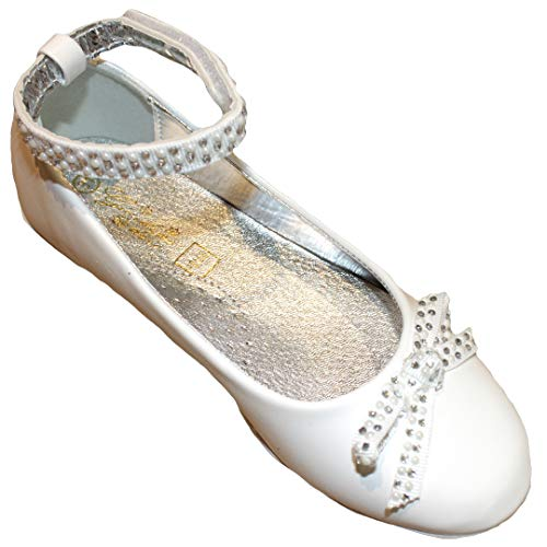 Giaidino Doio Ballerina glittersteentjes wit communie bruiloft
