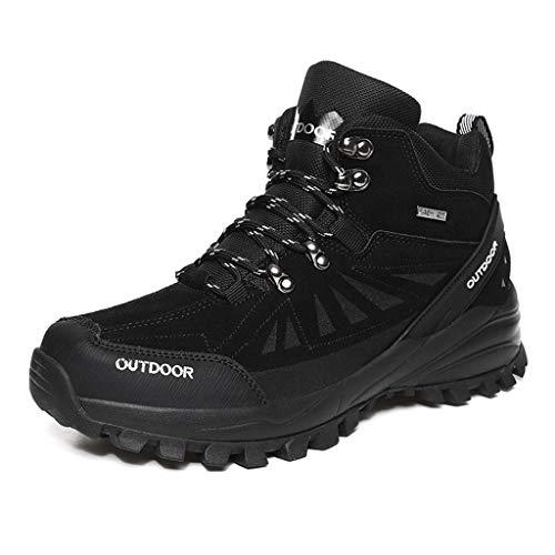 XIALIUXIA Resistente Antideslizante Hombre Zapatos De Senderismo, Impermeables Al Aire Libre Zapatillas De Trekking Zapatos Deportivos,A,45