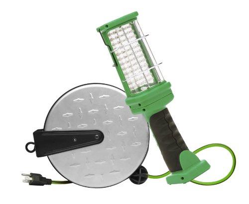 Designers Edge E319 Retractable Extension Cord LED Handheld Work Light, 30-Foot