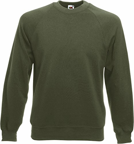 Fruit of the Loom: Raglan Sweatshirt 62-216-0, Größe:M;Farbe:Classic Olive