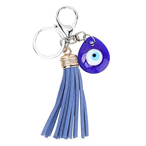 Portachiavi con occhio, Portachiavi con occhio diabolico blu amuleto di vetro turco benedizione portachiavi buona fortuna per ragazze donne portachiavi decor regalo di compleanno di natale