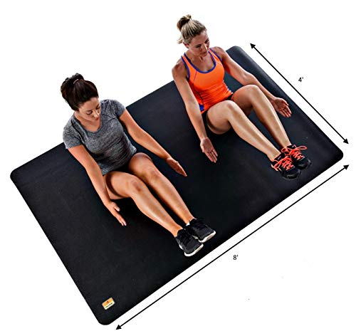 """Pogamat: Use with Shoes or Without! XXL Yoga Mat 7' X 4' X 1/4"""" Thick Workout Mat, High Density Foam Mat Perfect for Home Gyms, Garage Gyms, Home Pilates Mat or Cardio Mat."""