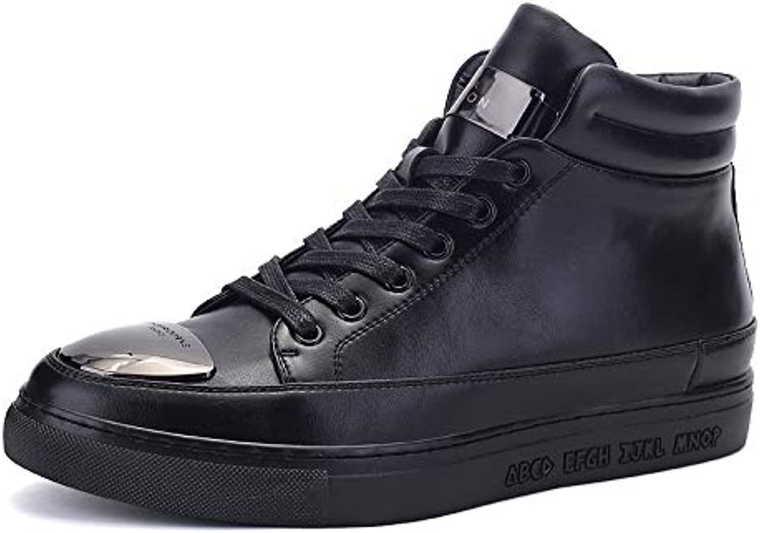LOVDRAM Men'S Leather shoes Autumn And Winter Men'S Tooling Boots Leather Breathable Casual Men'S shoes Leather Boots Wear-Resistant Non-Slip Boots