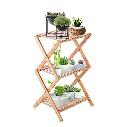 JCCOZ - URG 3 capas de flor base plegable de madera de la estructura sistema de almacenamiento Display Stand (3 capas) URG