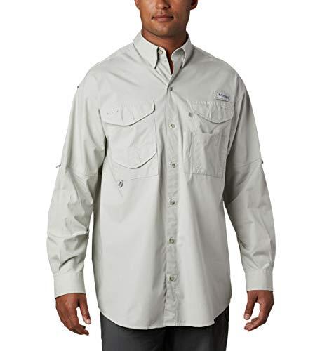 Columbia Men's PFG Bonehead Long Sleeve Shirt, Cool Grey, 5X