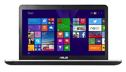 Asus N751JX-T4056T 43,9 cm (17,3 Zoll FHD) Laptop (Intel Core i7 4720HQ, 8GB RAM, 1TB HDD, NVIDIA GF 950M, Blu-ray, Win 10 Home) silber