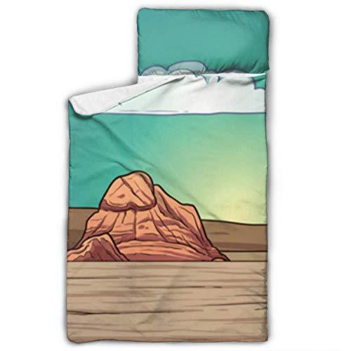 N\A Matelas de Couchage en Forme de Sable du désert Merveilleux Sac de Couchage pour garderie avec Couverture et Coussin Design idéal pour Les Pyjamas de garderie préscolaire 50\