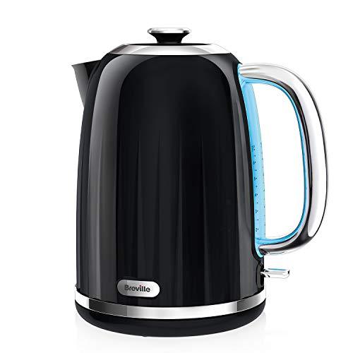 Breville Impressions Electric Kettle, 1.7 Litre, 3 KW Fast Boil, Black [VKJ755]