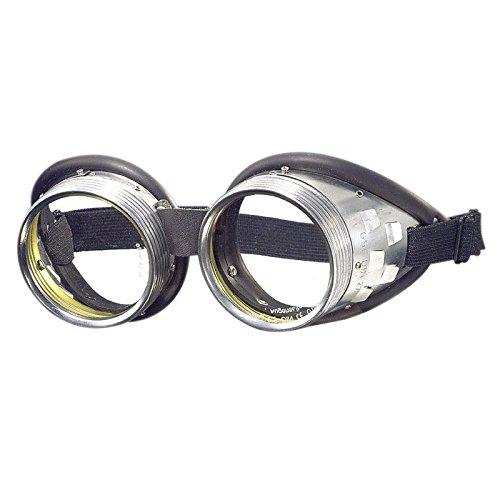 Schraubringbrille 717 G Klar Durchsichtig Retro Oldschool Motorradbrille