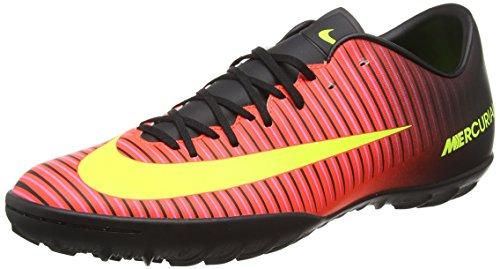 Nike Mercurial Victory VI Tf, Scarpe da Calcio Uomo, Rosso (Total Crimson/Volt-Black-Pink Blast), 45.5 EU