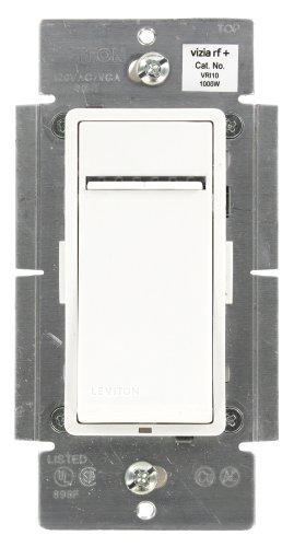 Leviton VRI10-1LZ Vizia RF+ Incandescent Dimmer 1000W, Z-Wave, Works with Alexa