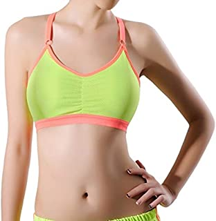 BEESCLOVER New Stretch Workout Tank Top Seamless Fitness Yoga Padded Sports Bra Breathable