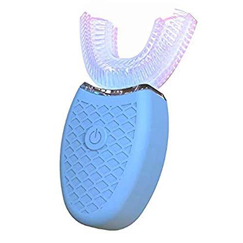 Cepillo de dientes ultrasónico automático, Cepillos de dientes ultrasónicos de 360 ° Cepillo de dientes eléctrico y Kit de blanqueamiento dental, Cepillo de dientes para cargar (Azul)