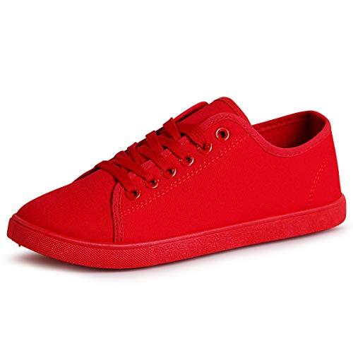 topschuhe24 Mujer Zapatillas De Deporte, Color:Rojo 1874, Número de Zapato:36 EU