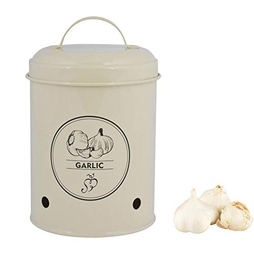 Esschert Design Garlic Storage Tin, Metal